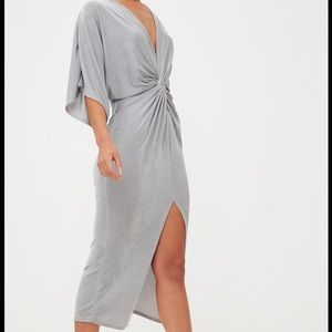 Silver pullover dress